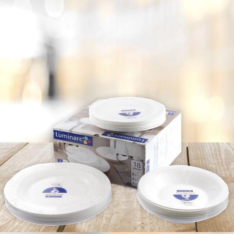 Печать круглых этикеток для тарелок